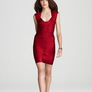 French Connection Red Spotlight Bandage Dress